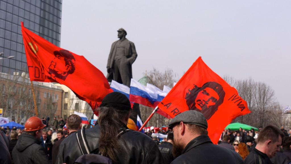 Марксизм-ленинизм востребован на Донбассе: Донецк (17 марта 2014 г.)