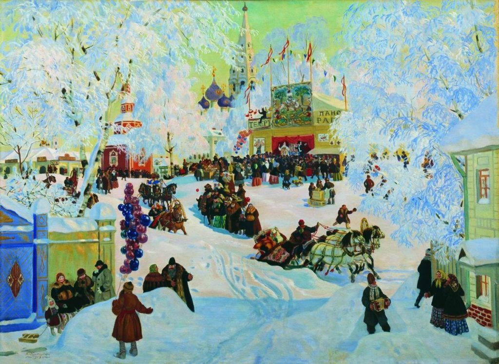 Б. М. Кустодиев. Масленица (1919)
