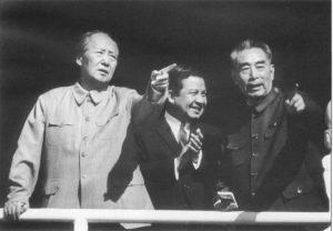 Мао Цзэдун, Нородом Сианук и Чжоу Эньлай в Пекине, май 1970 г.