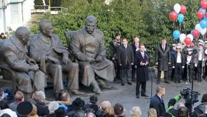 Открытие памятника «ялтинской тройке» в Ливадии (5 февраля 2015 г.)