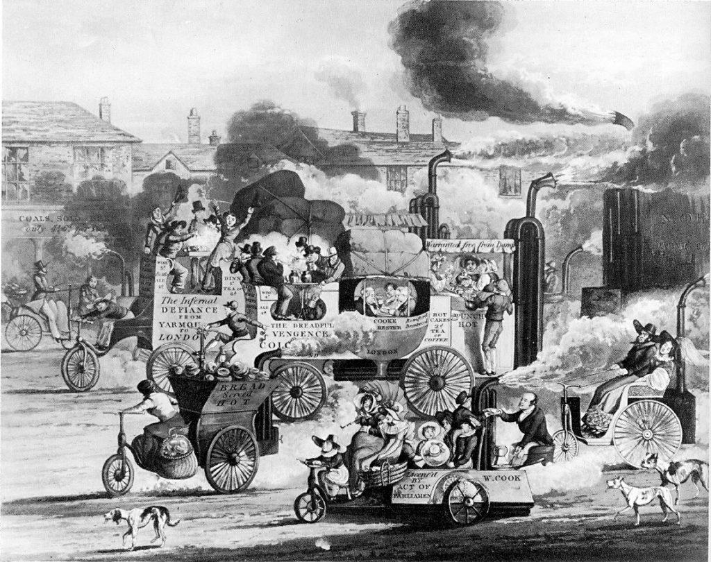 Футуристический взгляд на грядущие проблемы транспорта и загрязнения.