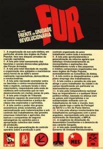 FUR, por uma Frente de Unidade Revolucionária
