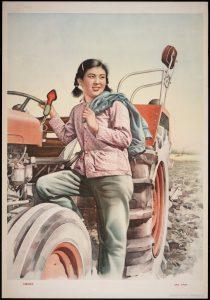 Китаянка-трактористка