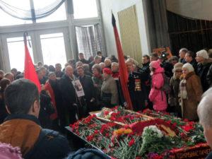 Похороны В. Анпилова. 20 января 2018 г.
