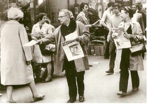 Сартр распространяет «Кос дю пёпль»