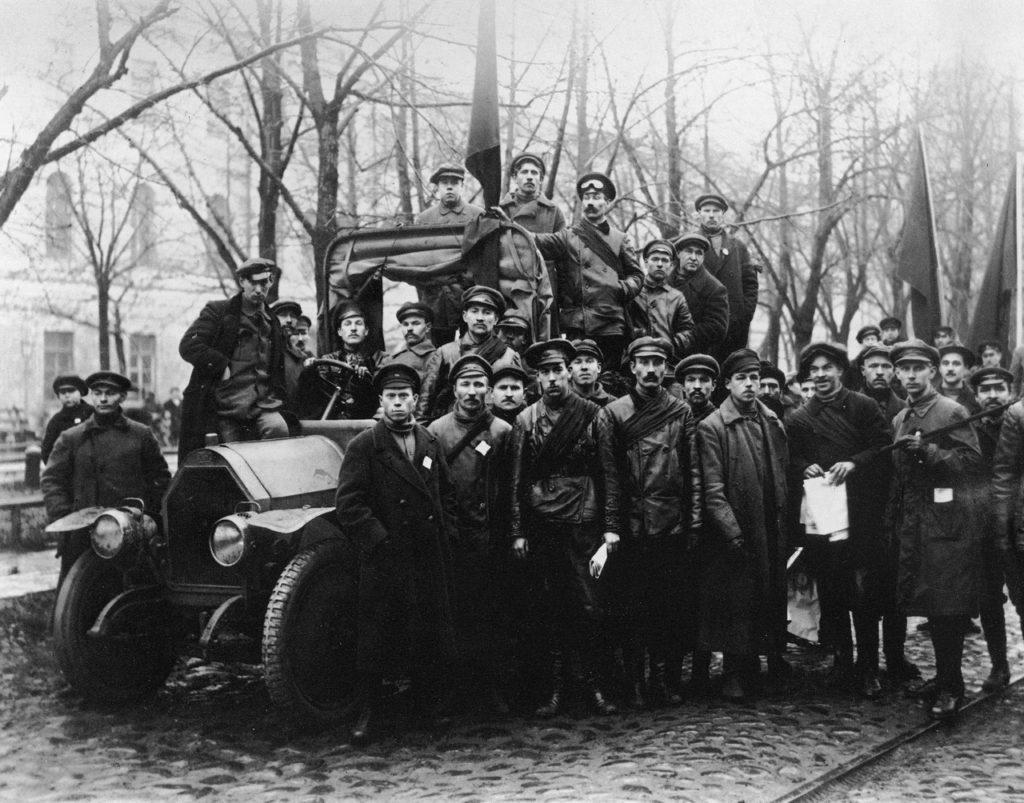 Отряд красногвардейцев. Петроград. 1917 г.