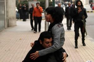 Шайма Эль-Саббаг после ранения в центре Каира (24 января 2015 г.)
